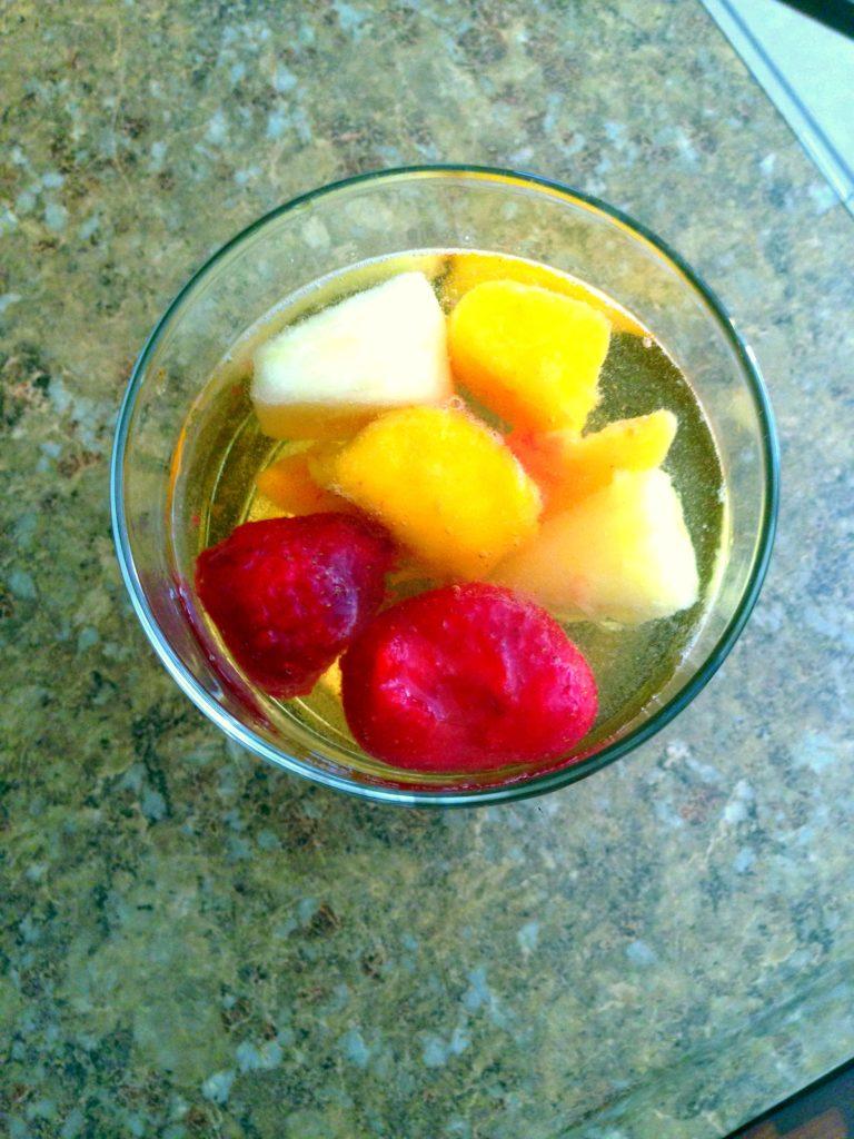 wine frozen fruit