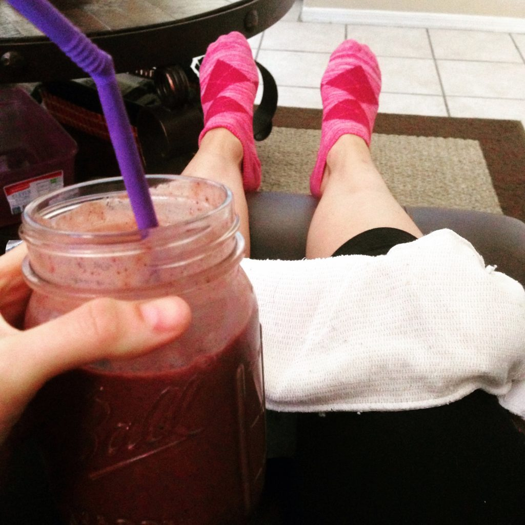 ice and smoothie
