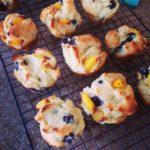 Paleo Blueberry Peach Muffins