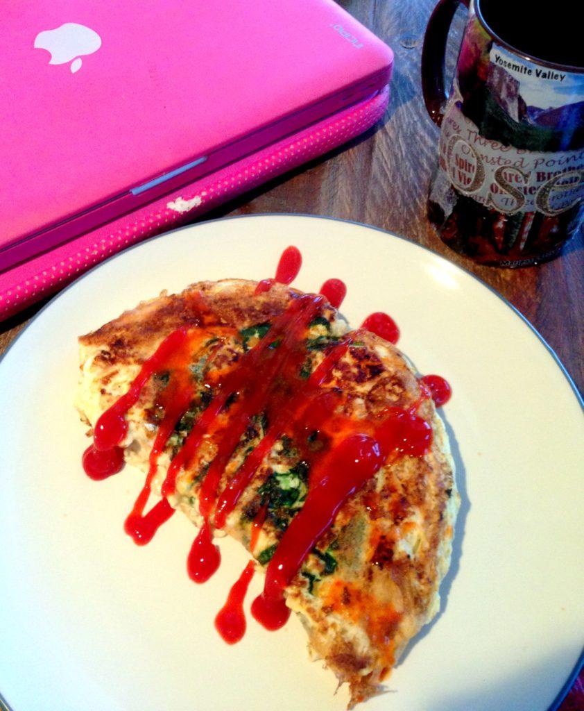 omelet veggie