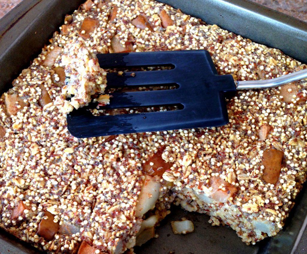 vegan quinoa pear bake