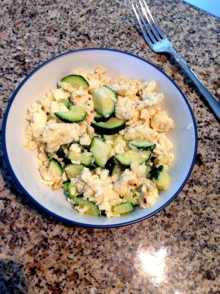 eggs and zucchini