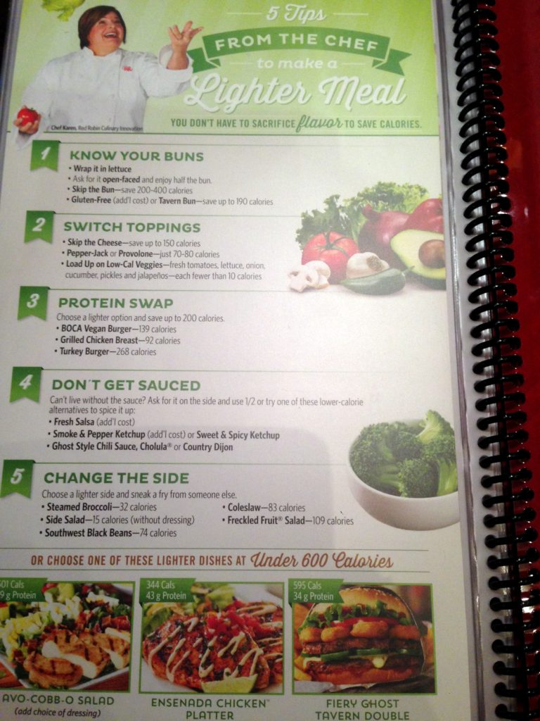 red robin menu