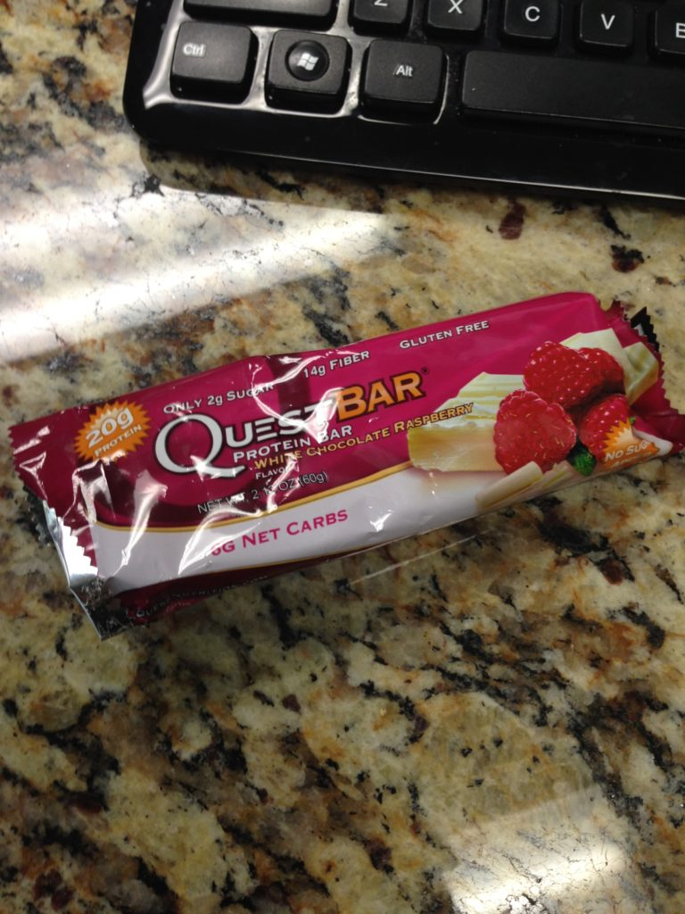 white chocolate quest bar