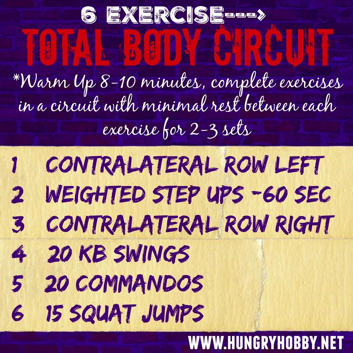6 Exercise Total Body Circuit