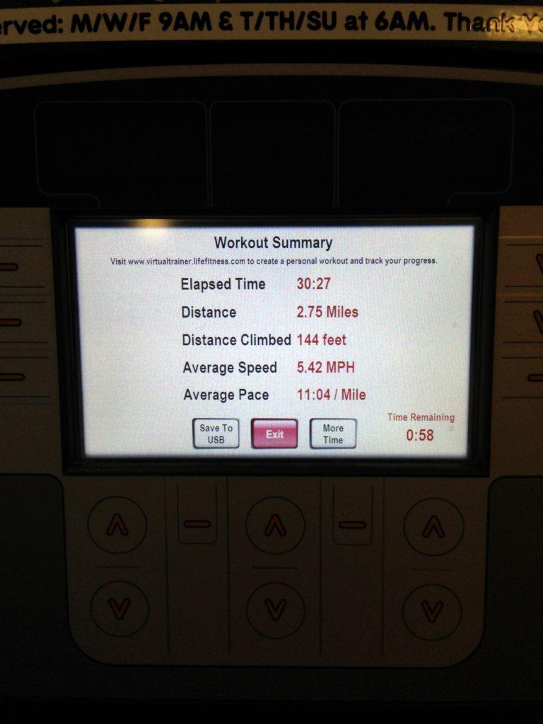 run 2.75 miles