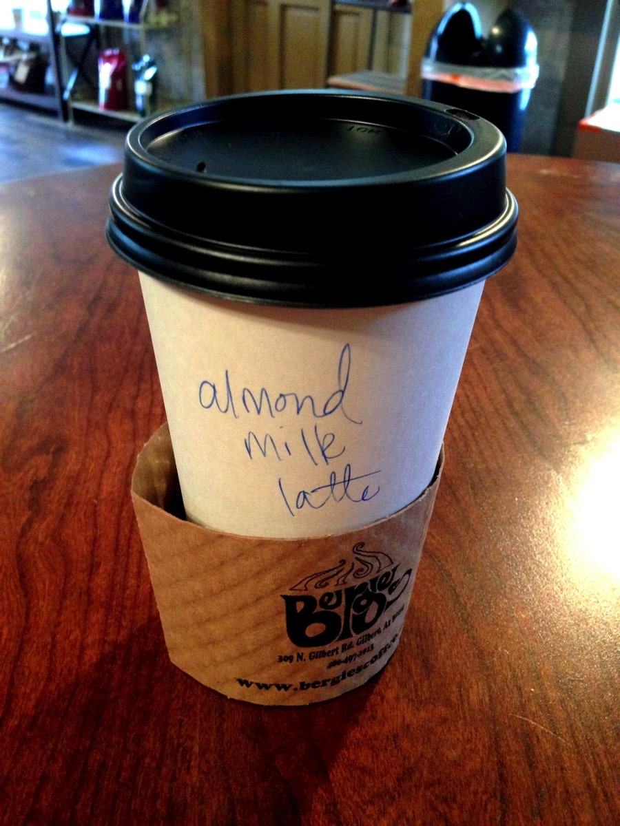 Almond milk latte