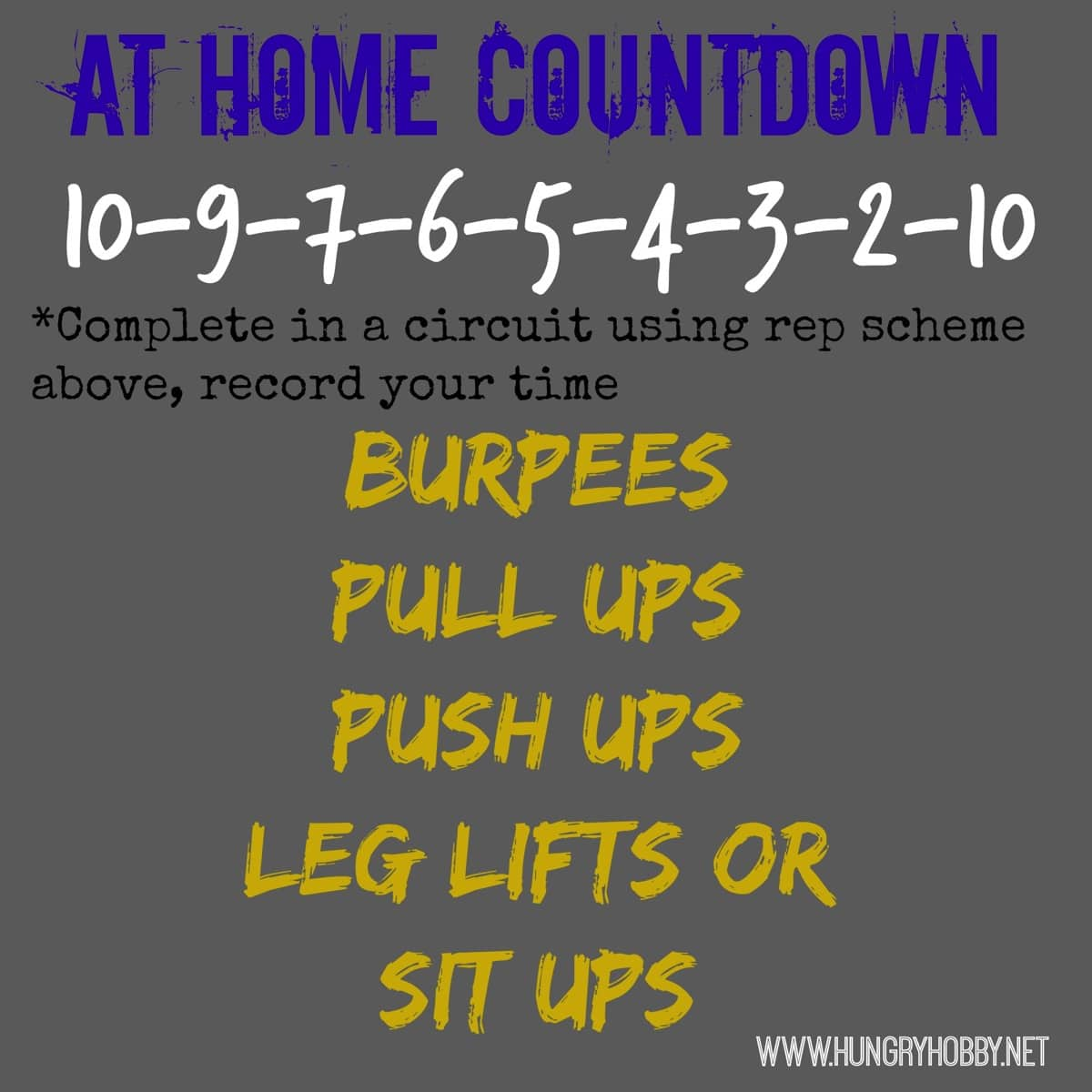 At home countdown crossfit