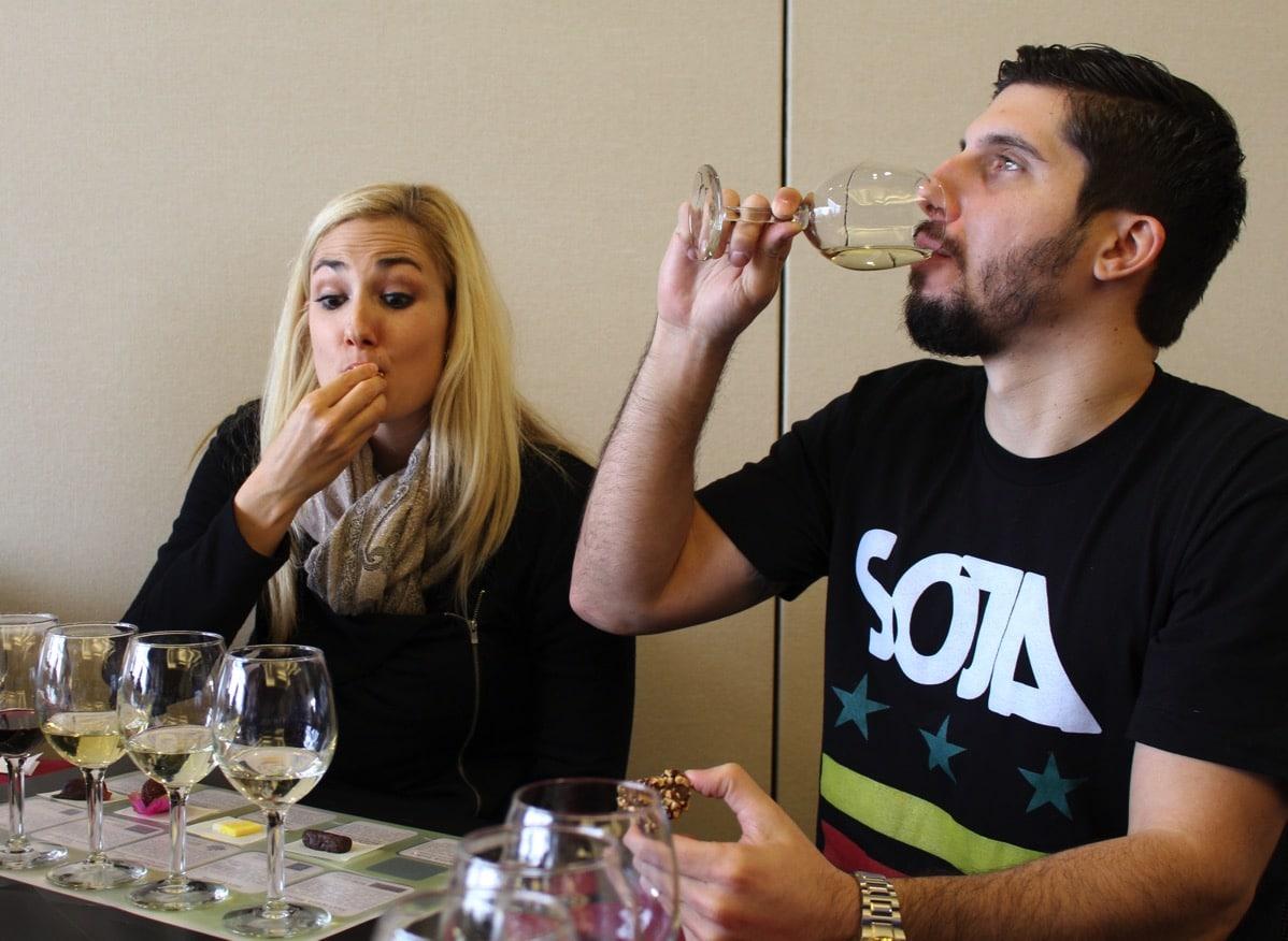 Kelli and paul wine tasting