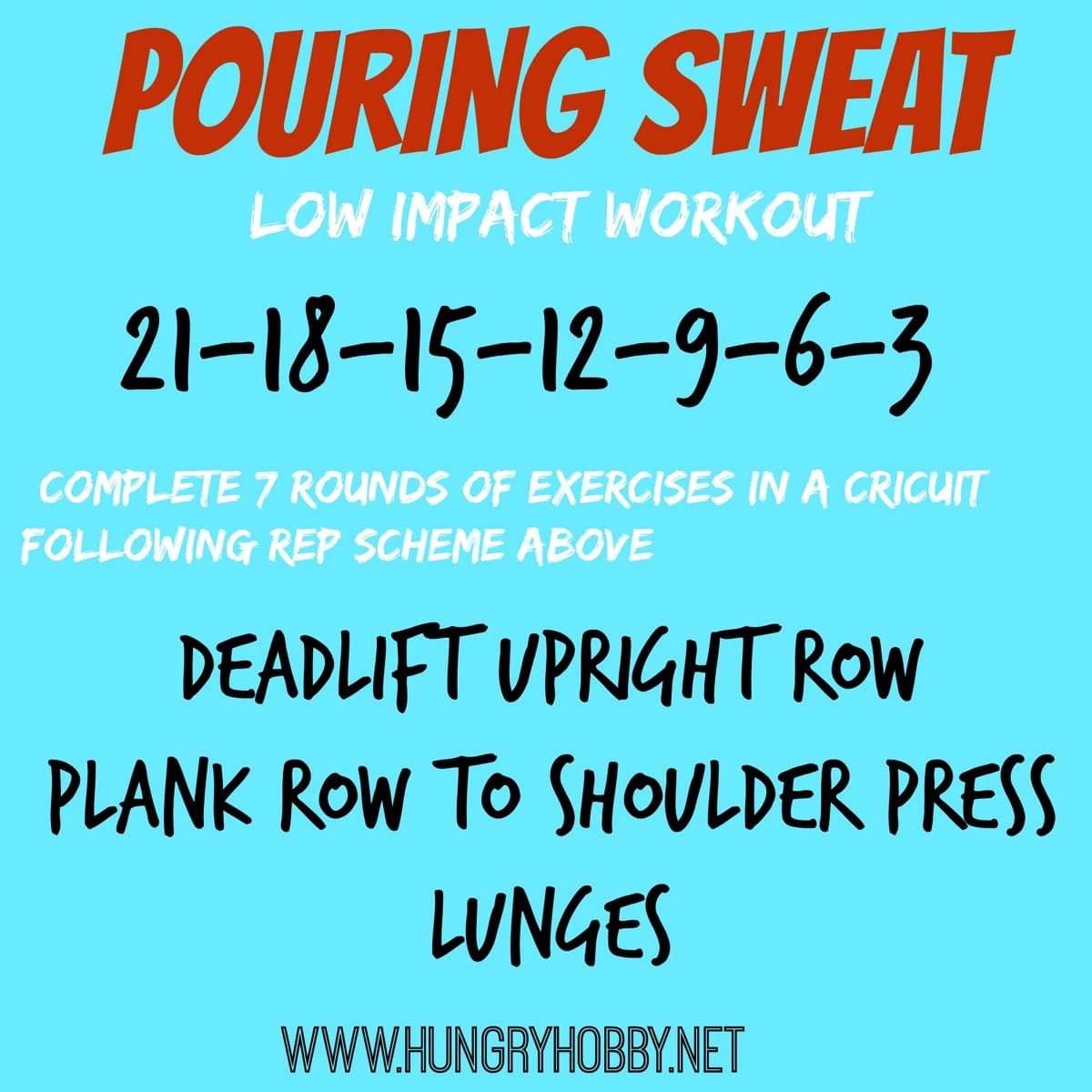 Pouring sweat workout