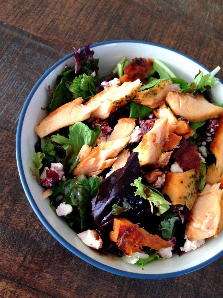 salmon-goat-cheese-salad