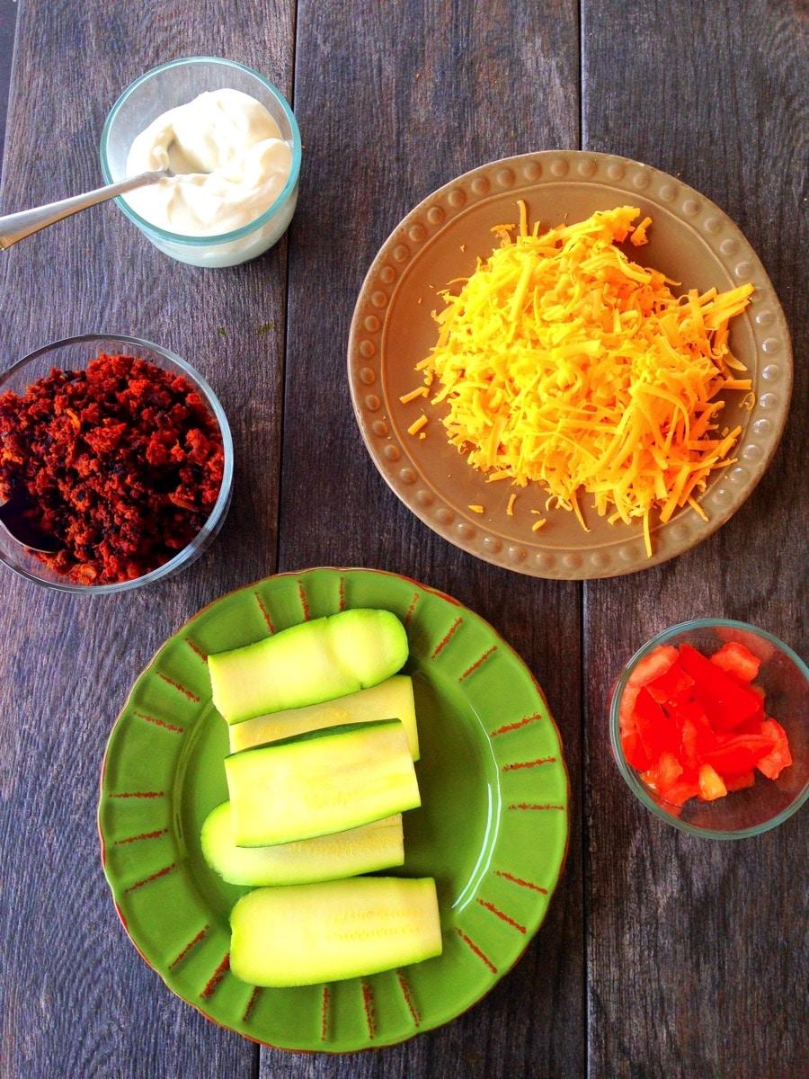 Zucchini nachos ingredients