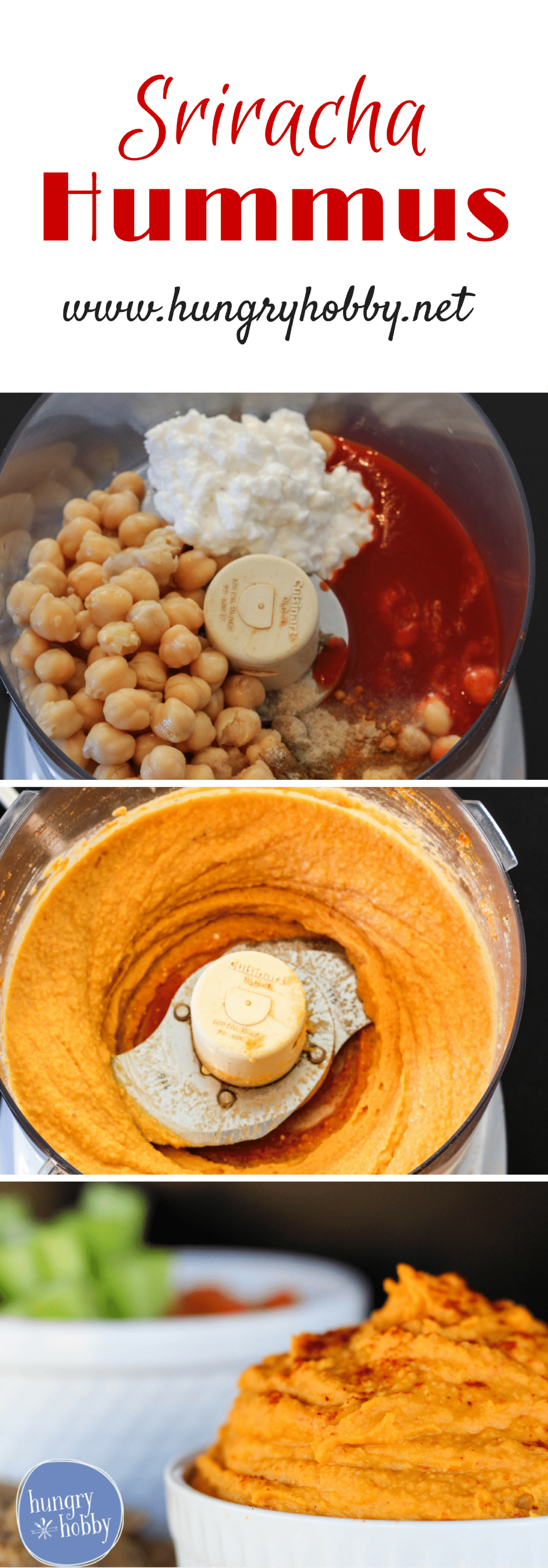 Sriracha Hummus has a protein kick and a spicy flavor kick that is sure to make snack time or game time a win!