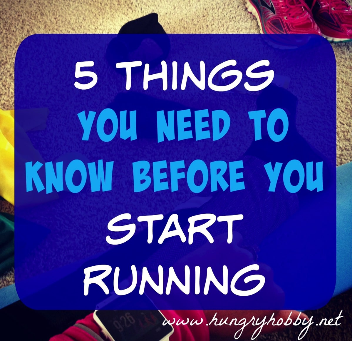 Before running