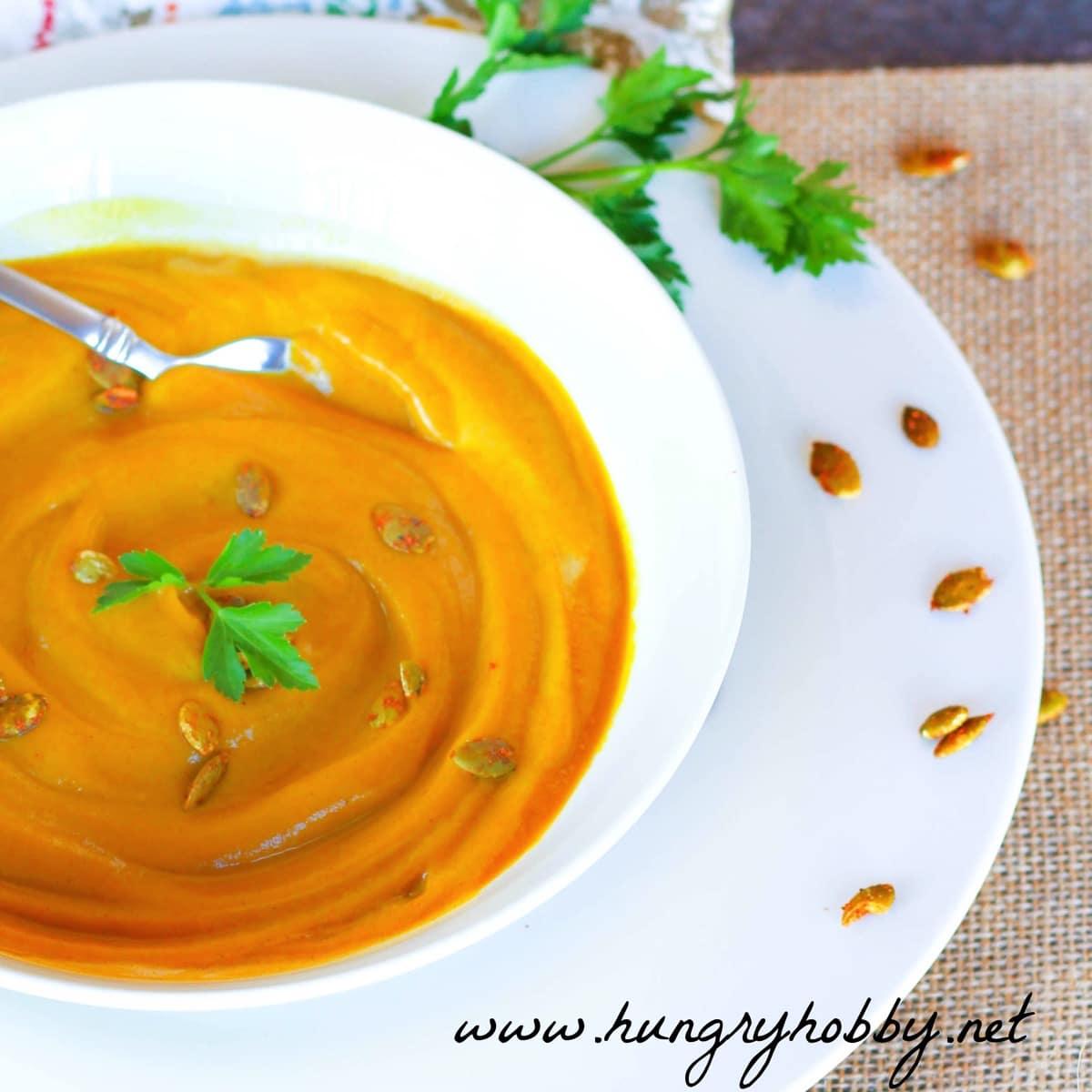 Butternut squash pumpkin soup gluten free paleo