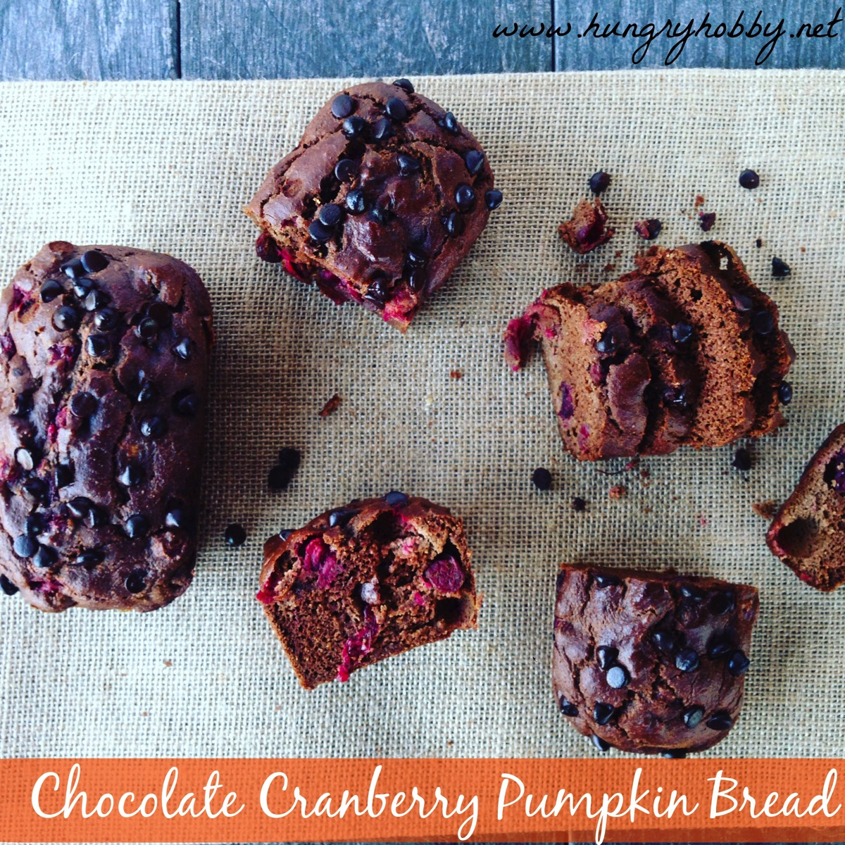 Chocolate cranberry pumpkin bread