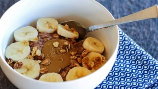 Chocolate Protein Sun Butter Oatmeal
