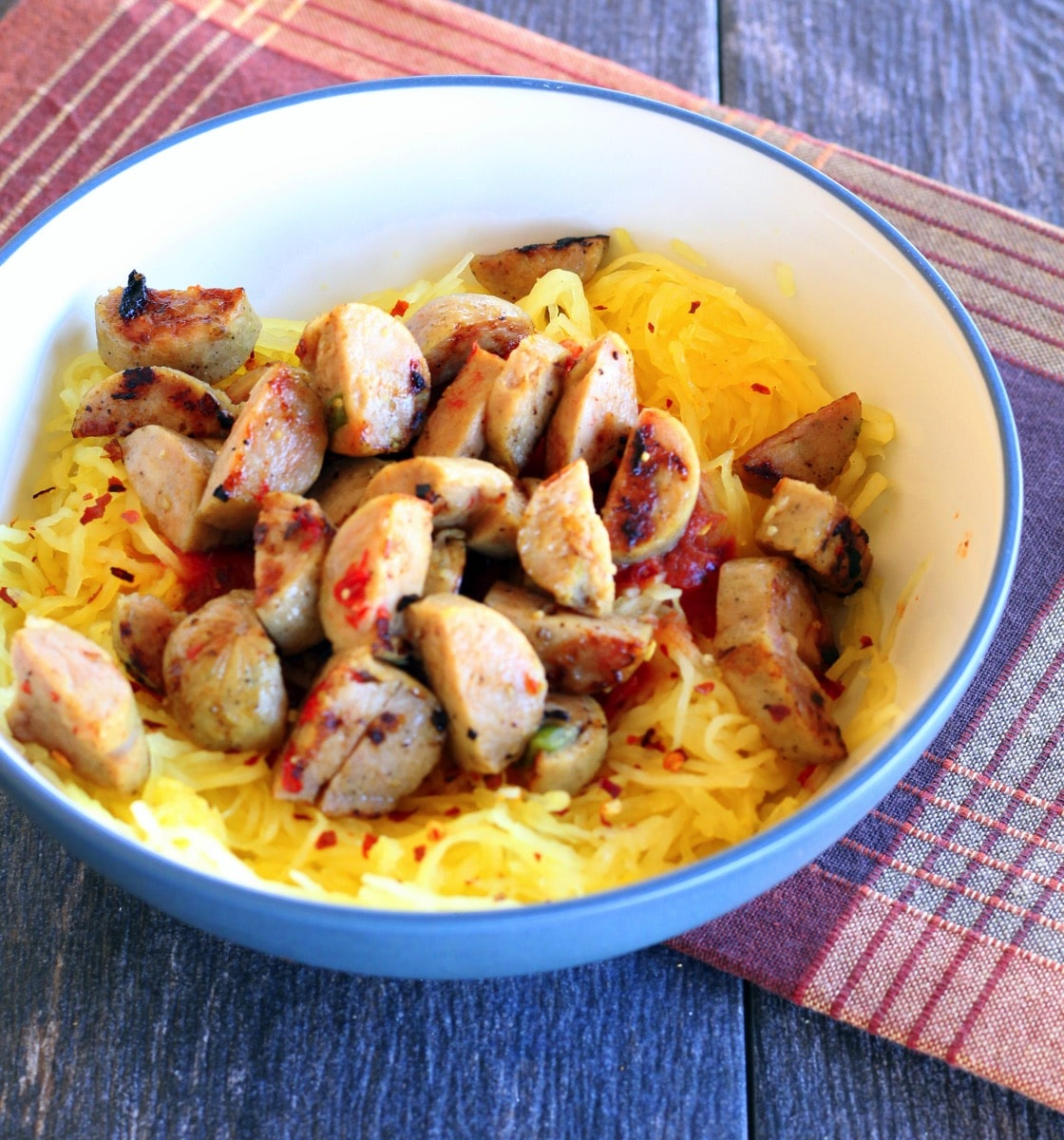 Spaghetti squash and chicken