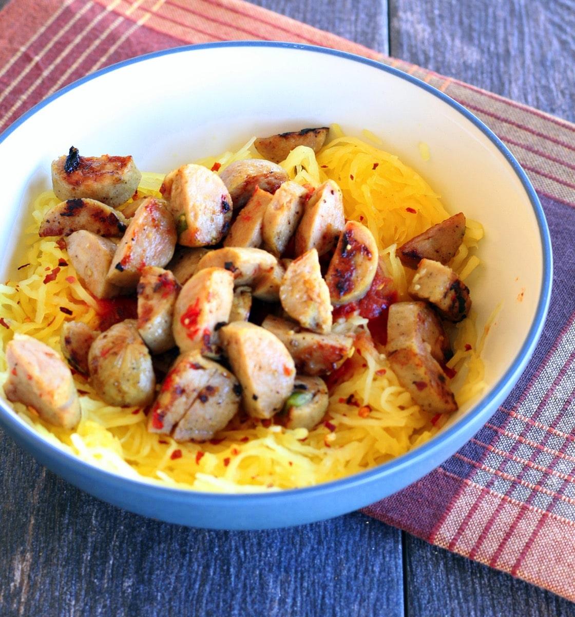 Spaghetti squash and chicken