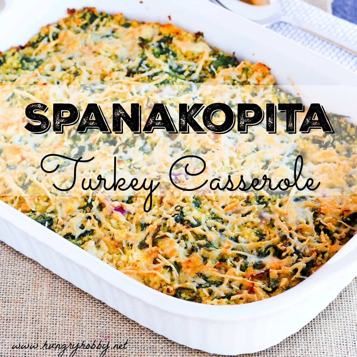 Spanakopita casserole www hungryhobby net