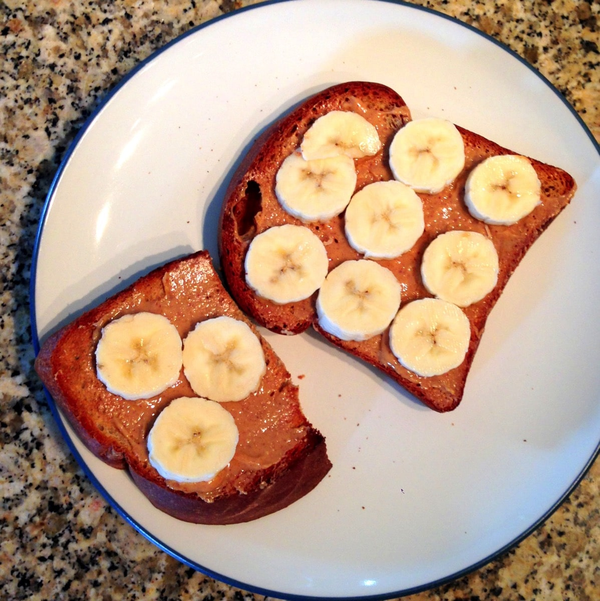 Toast and banana