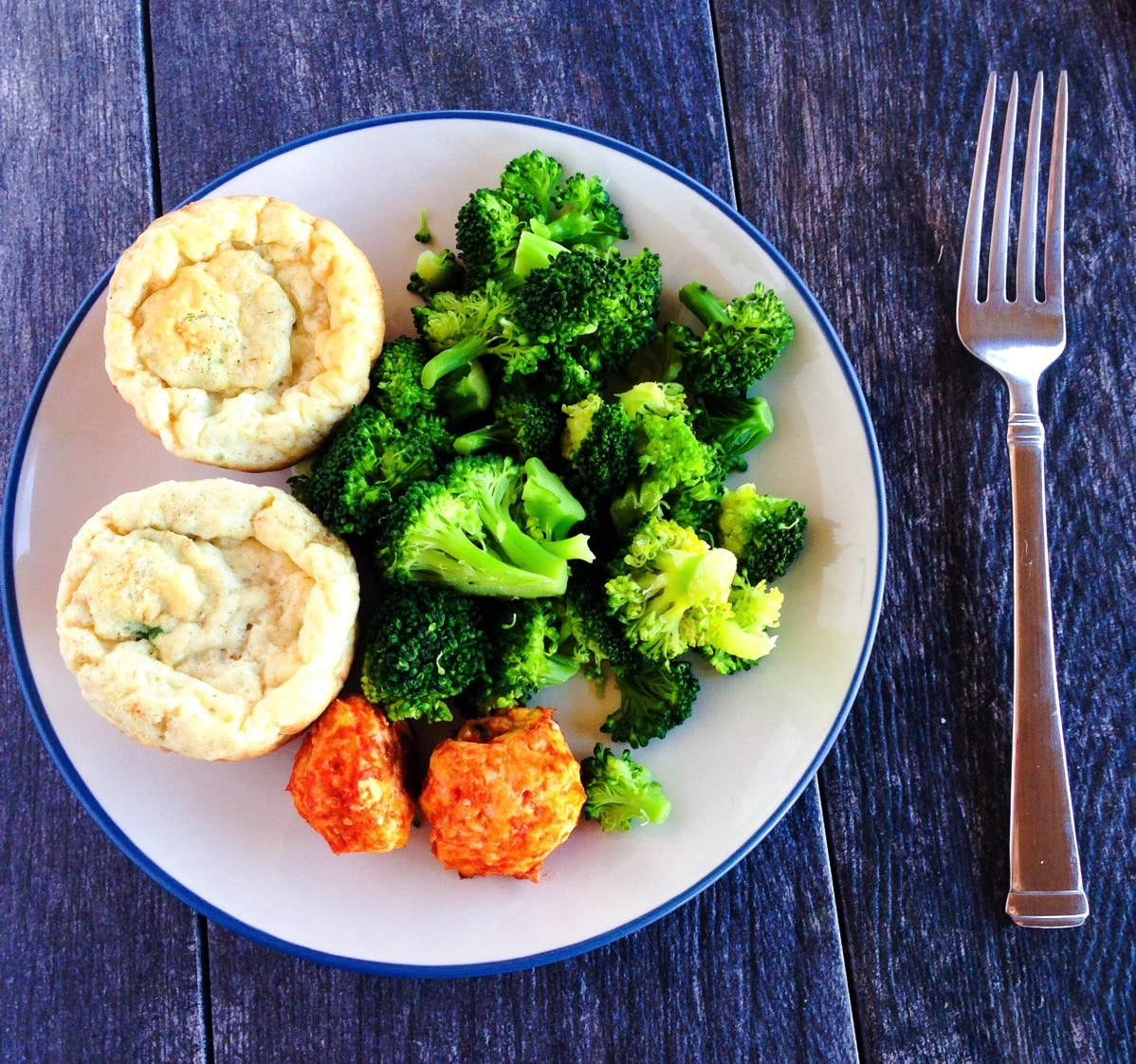 160209 muffins meatballs and broccoli