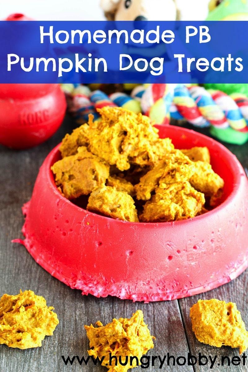 Homemade PB Pumpkin Dog Treats