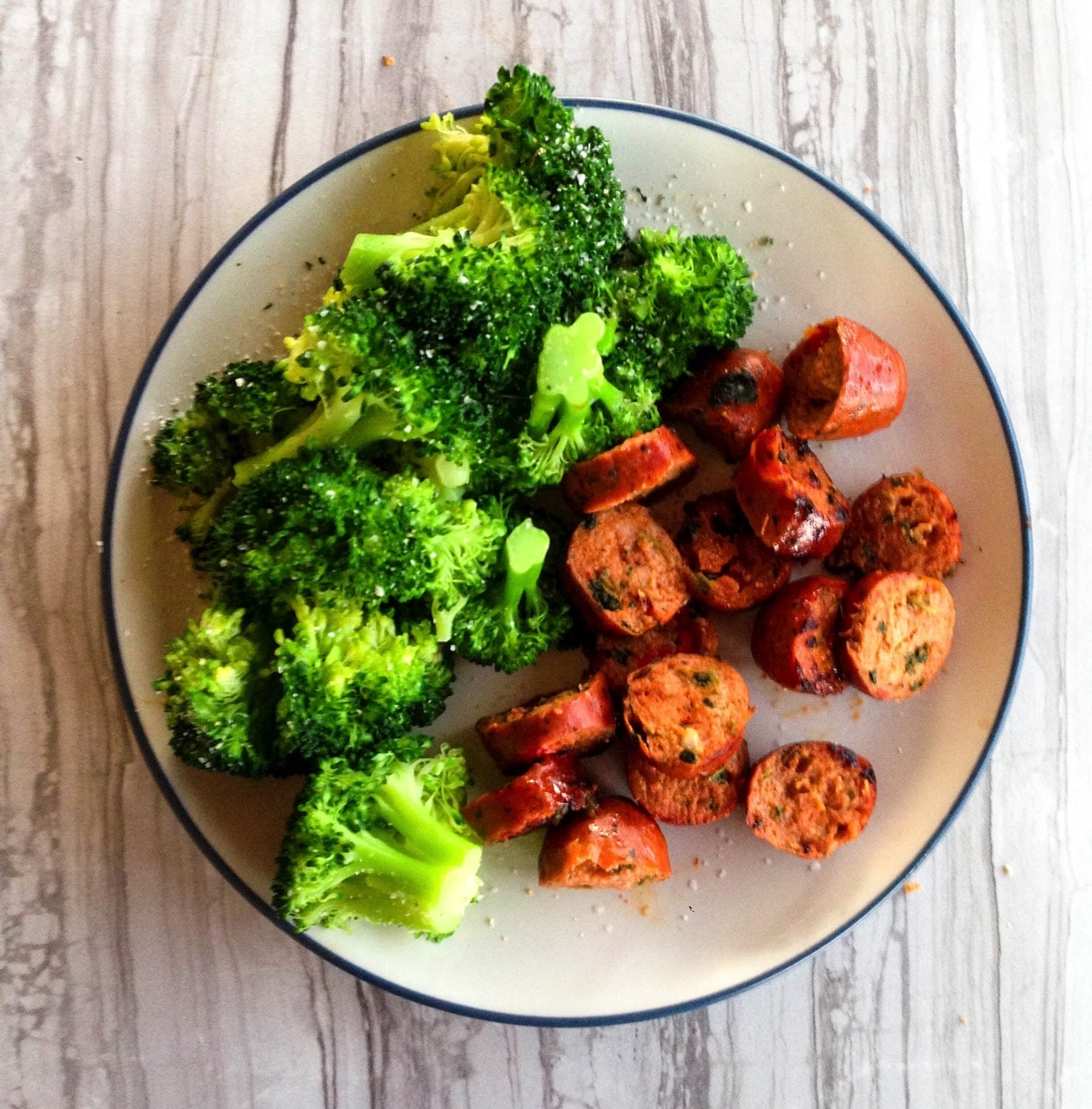 chicken-sausage-broccoli