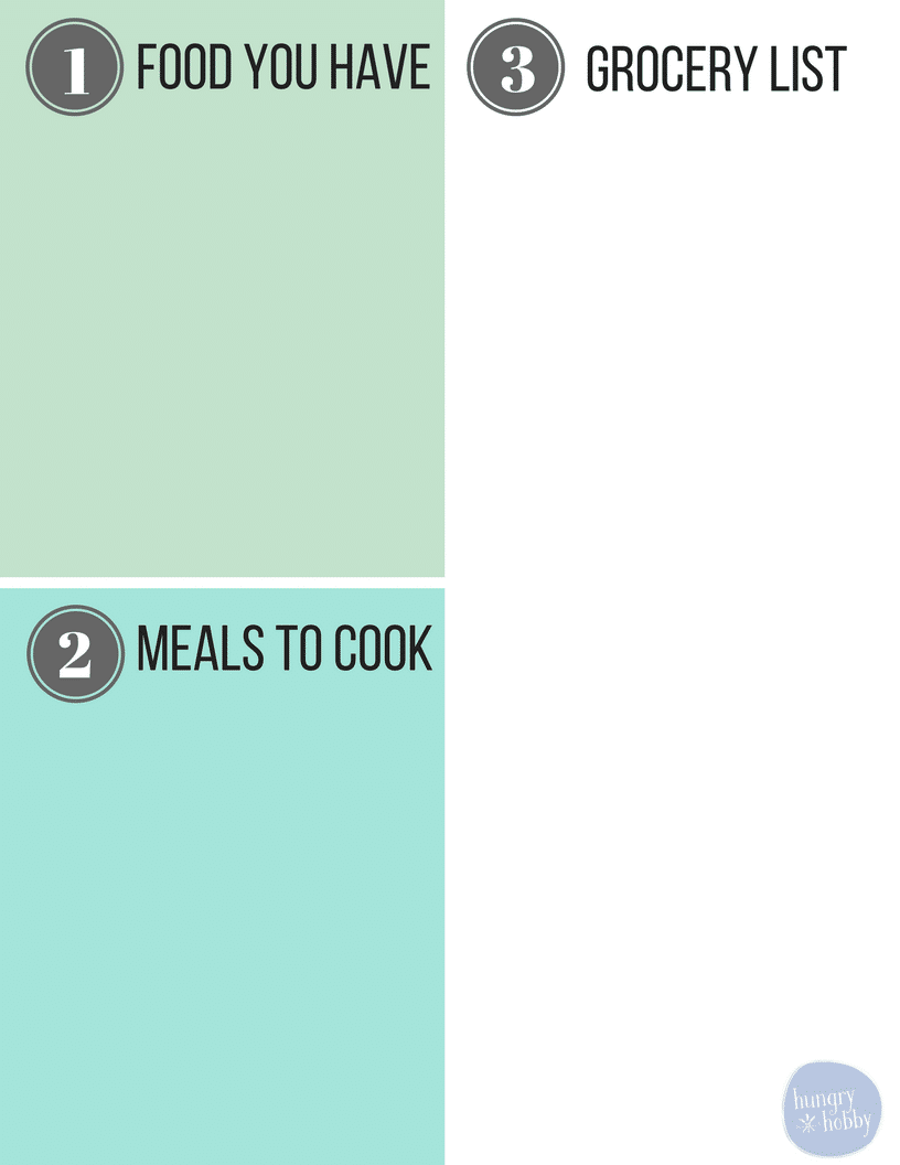 Easy Meal Planning Template