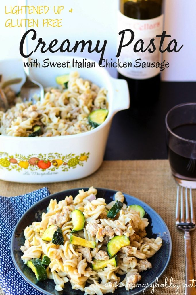 Gluten Free Pasta with Sweet Italian Chicken Sausage