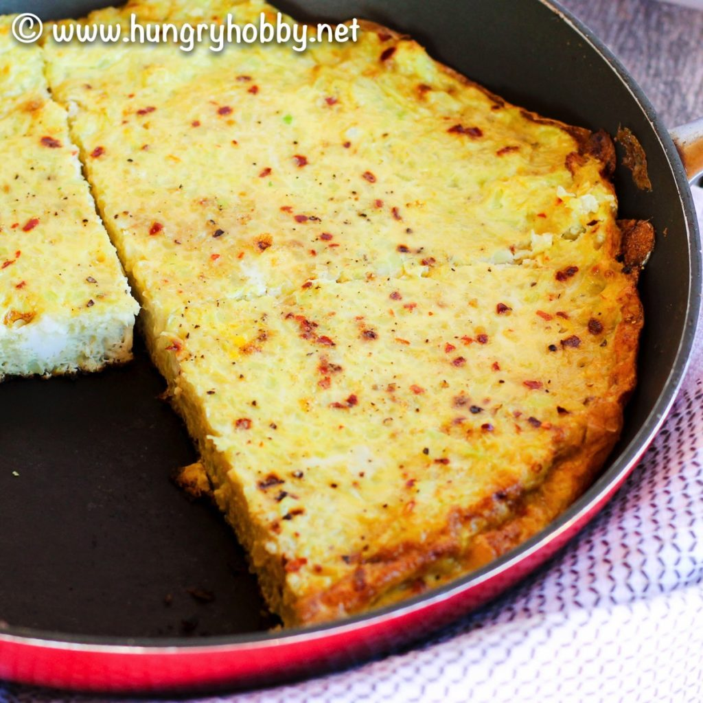 Paleo Cauliflower Rice Crusted Frittata (Gluten Free, Dairy Free, & Vegetarian)