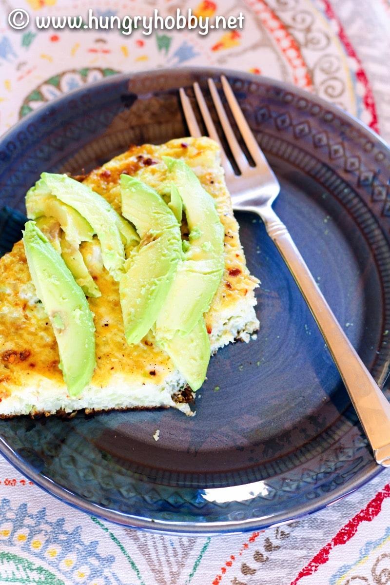 Paleo cauliflower rice slice and avo 2