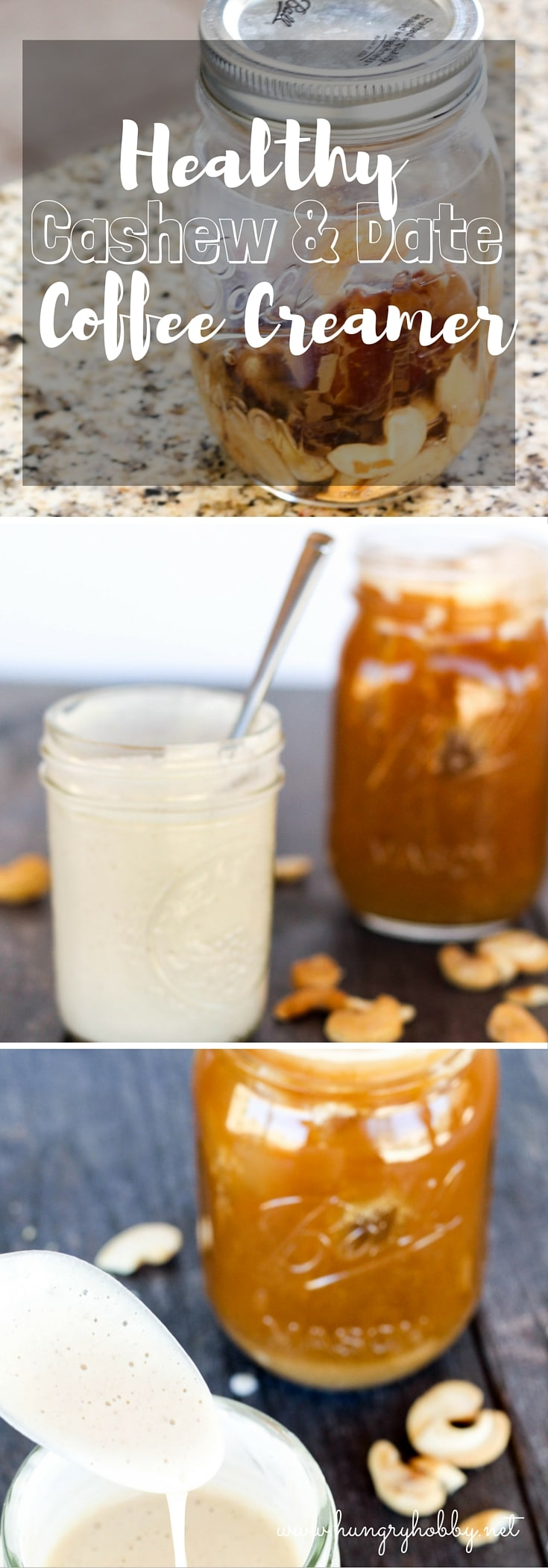 Cashew & Date Healthy Coffee Creamer is so easy to make from just three ingredients and so full of nutrition it can turn your morning cup of joe into a real health food!