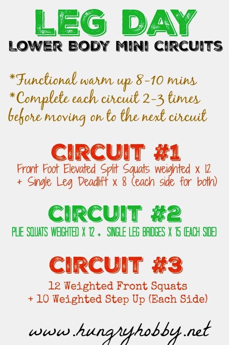 Leg Day Lower Body Mini Circuits