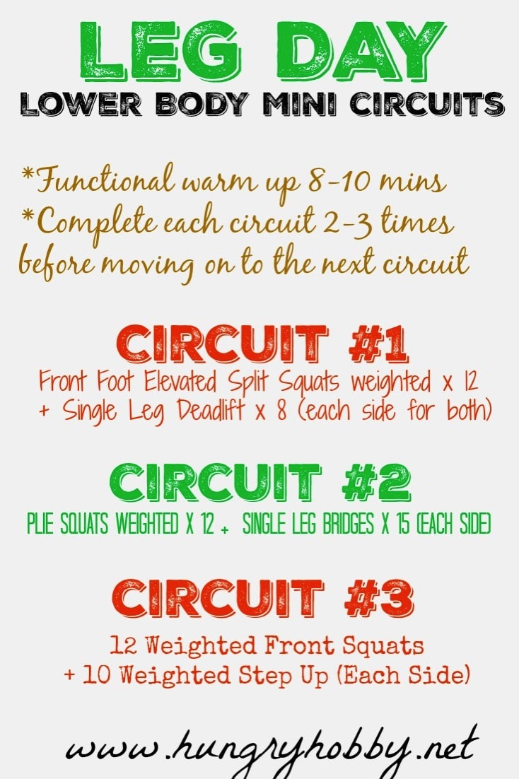 Leg Day Lower Body Mini Circuits