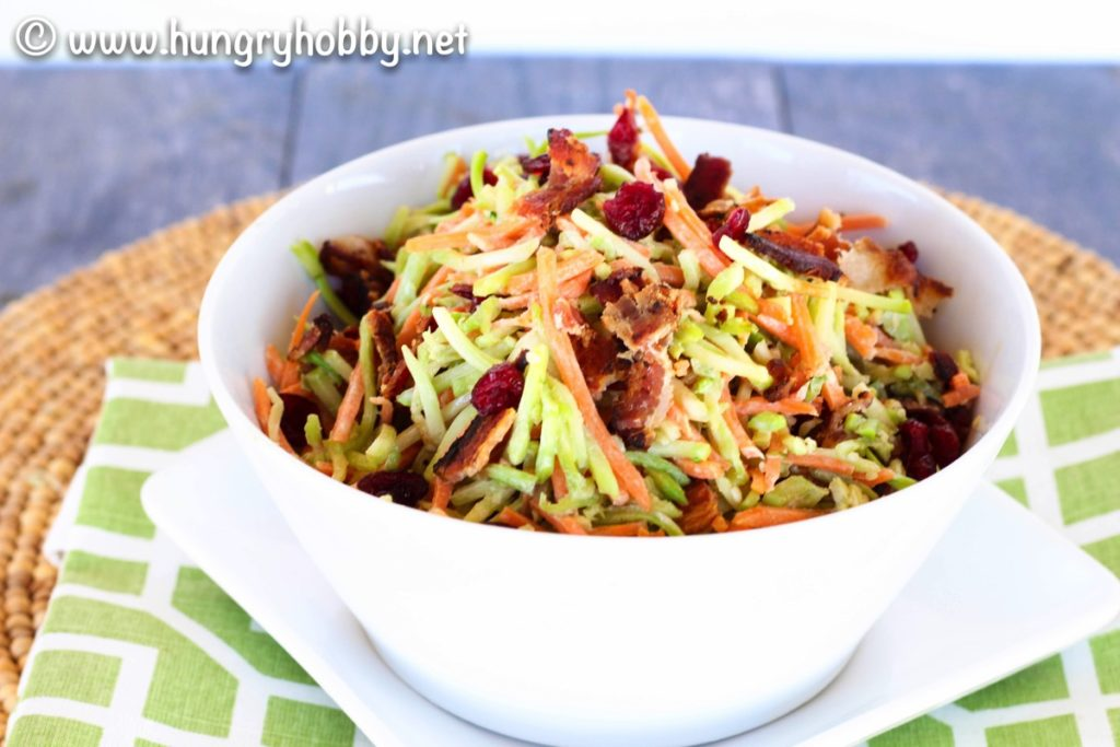 Dairy Free Bacon Broccoli Slaw