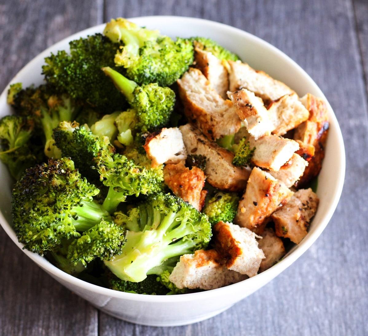 Broccoli and turkey burger