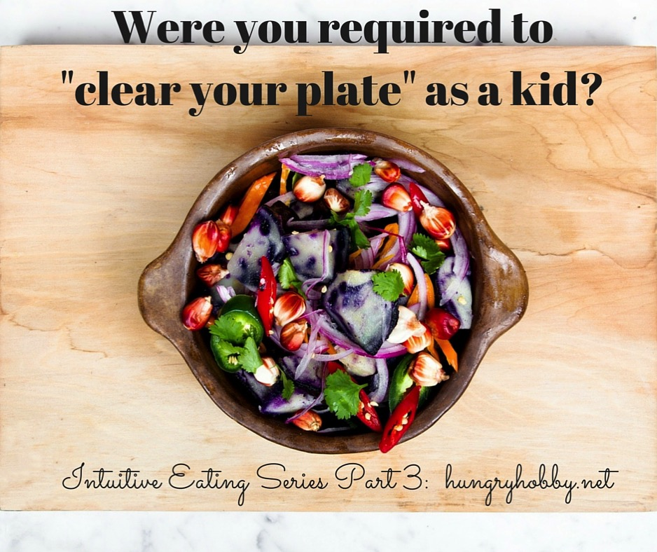 Clear your plate
