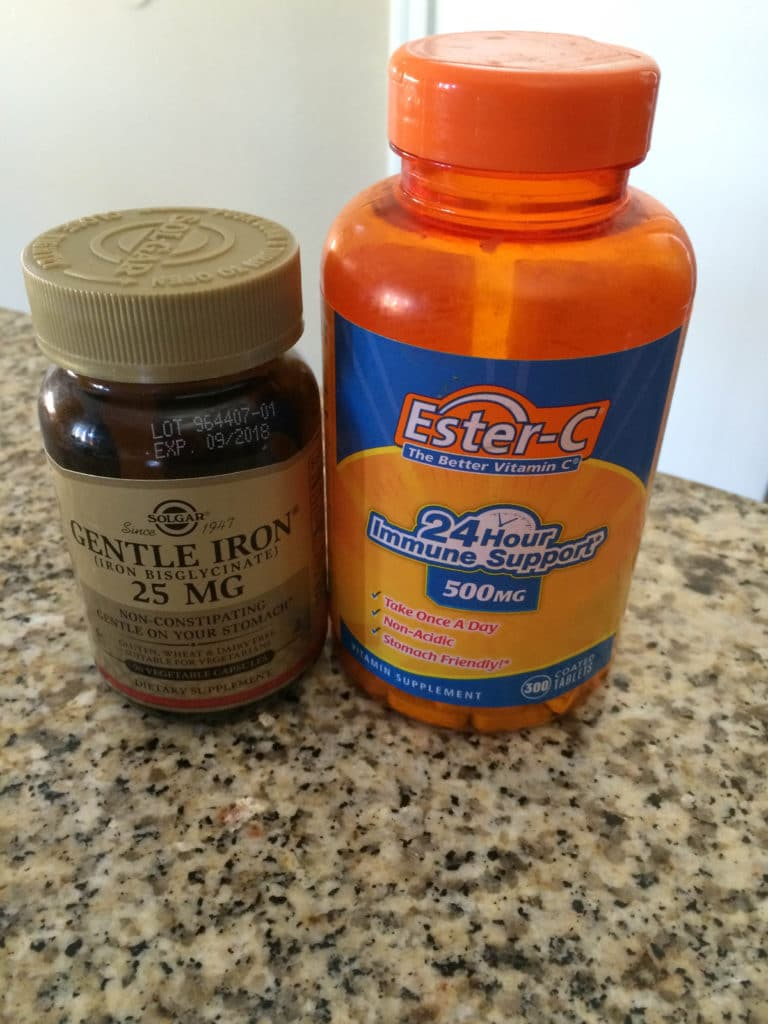 supplements - iron and vitamin c