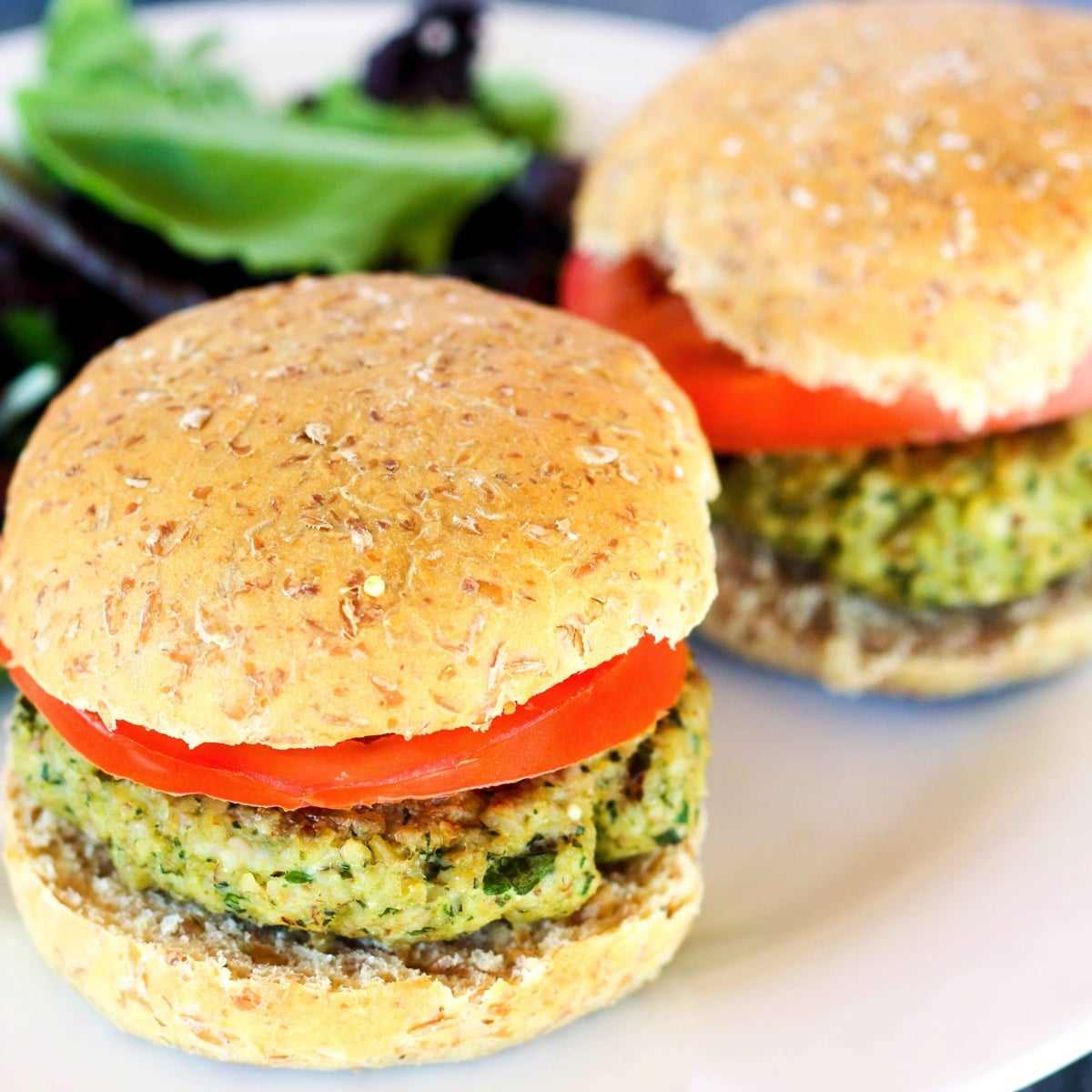 Walnut Pesto Burgers Turkey square close