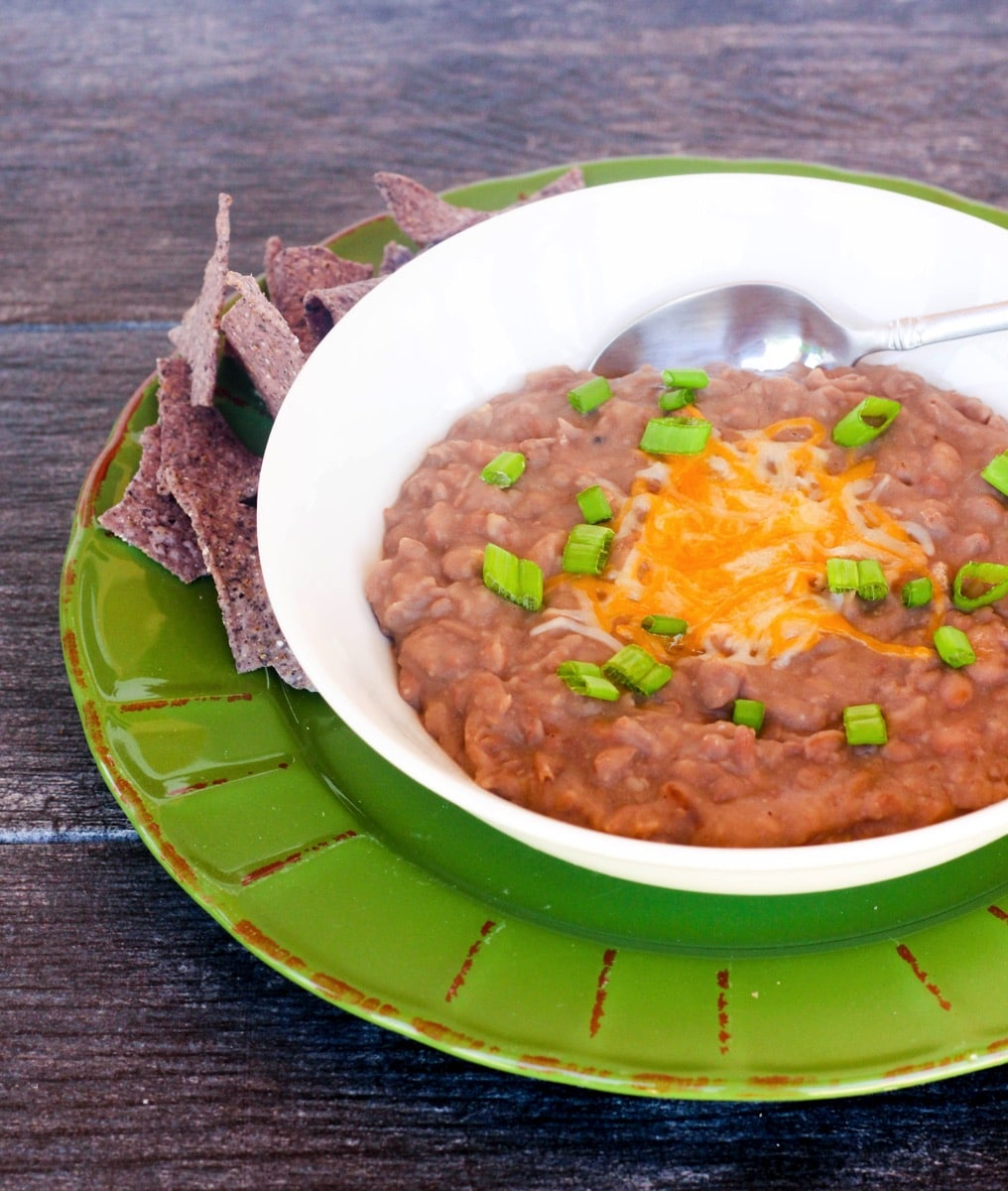Homemade Baked Refried Beans