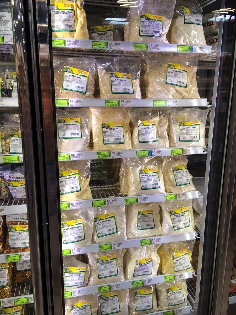 Refrigerated nut flours