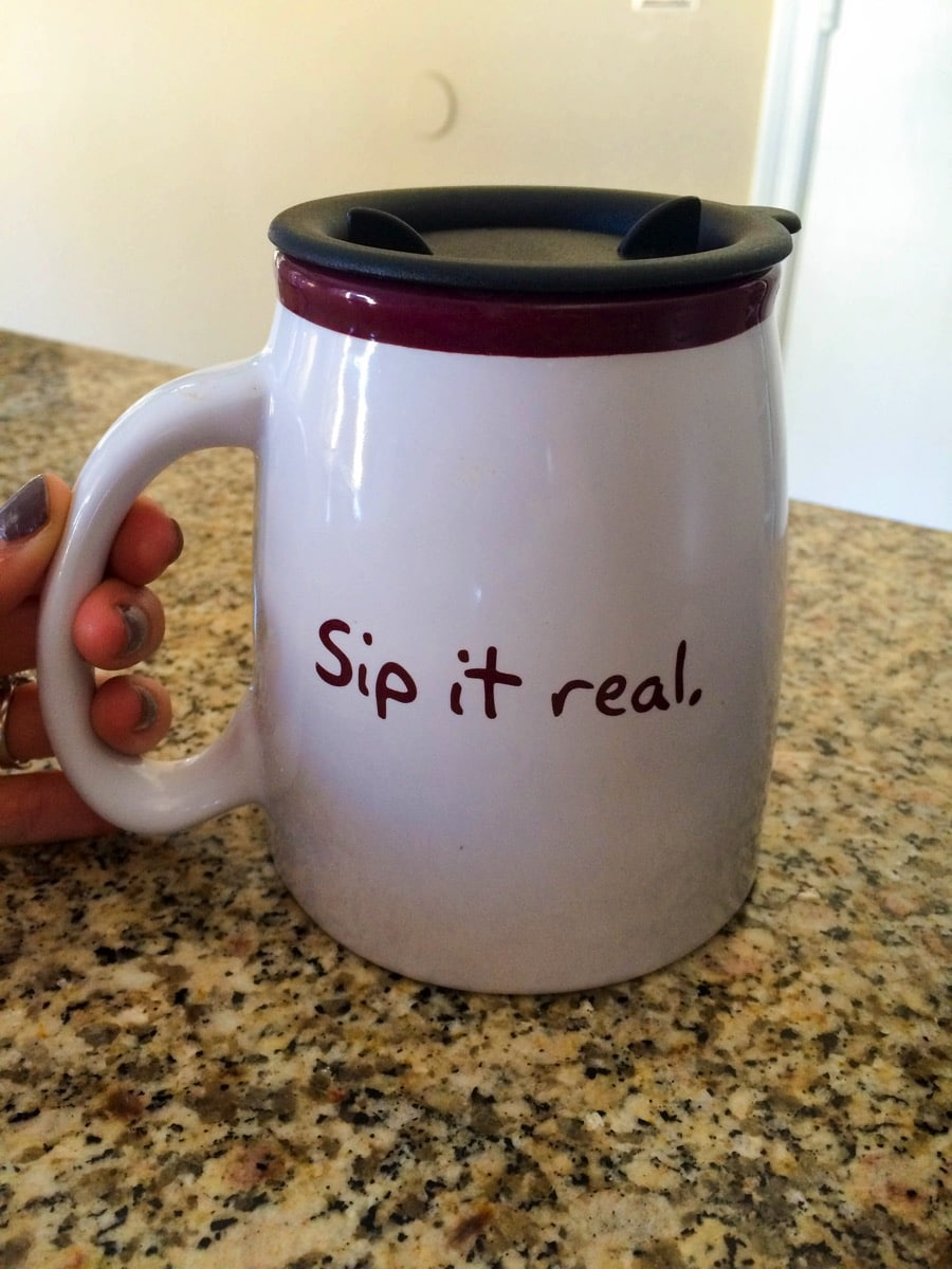 Sip it real coffee mug