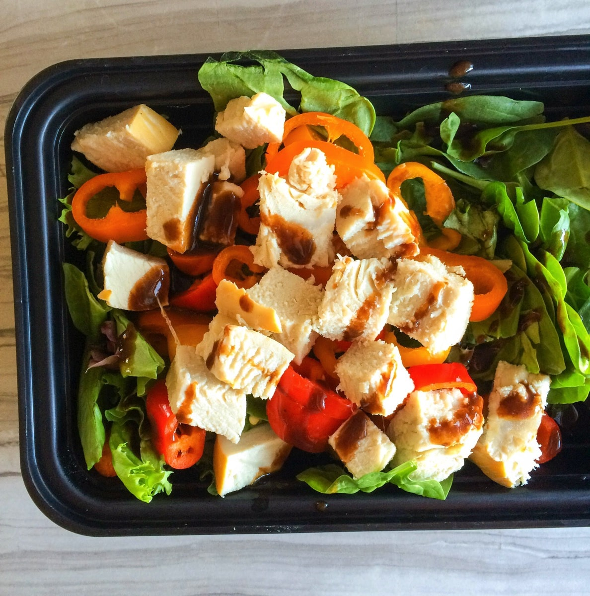 Turkey pepper salad