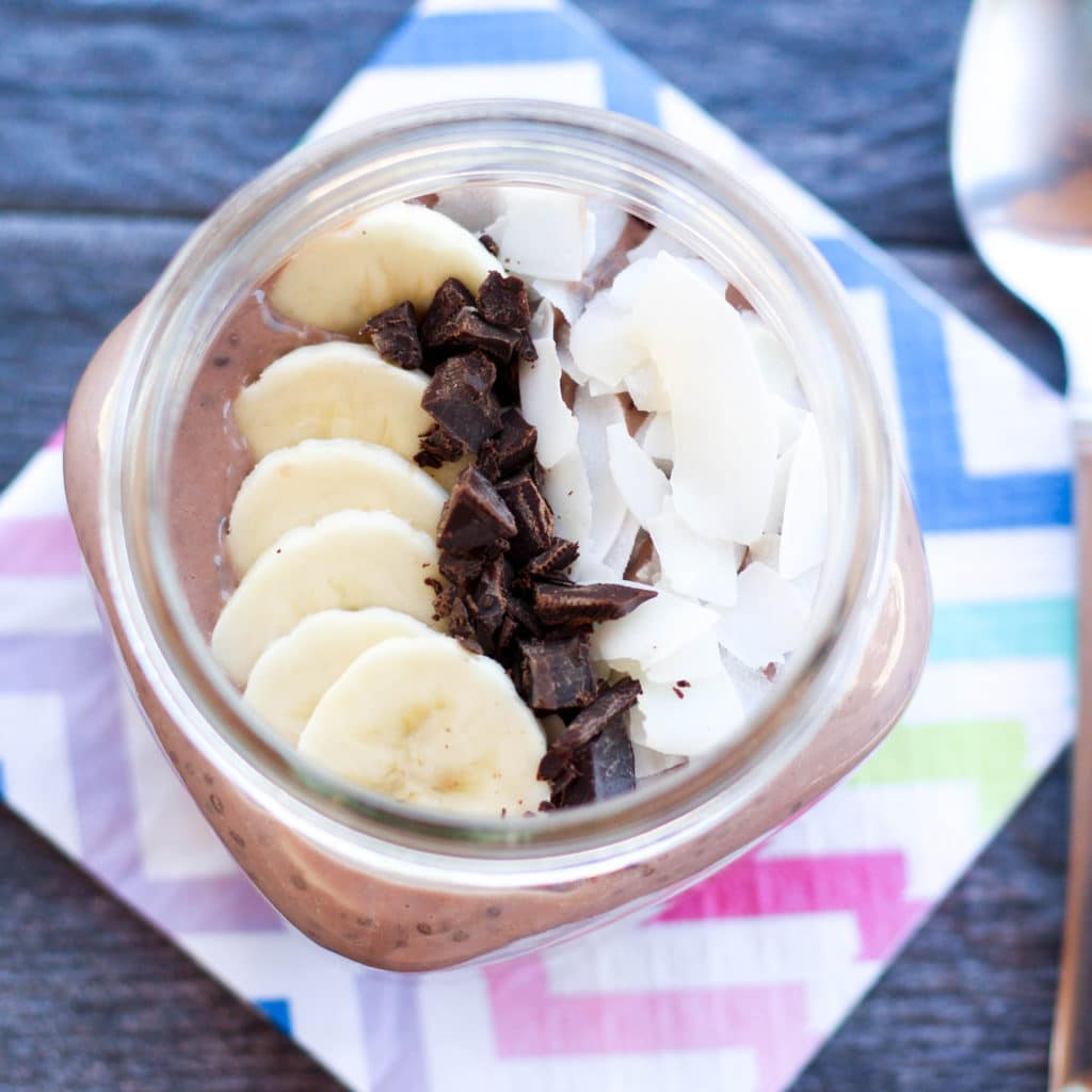 Chocolate Coconut Chia Pudding