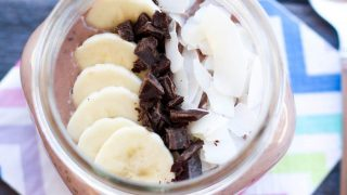 High Protein Chocolate Coconut Chia Pudding