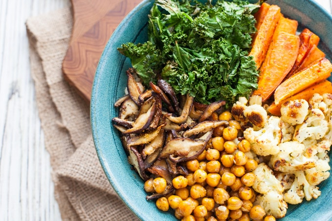 Immunity Boosting Buddha Bowl with Turmeric Tahini Dressing-1-2