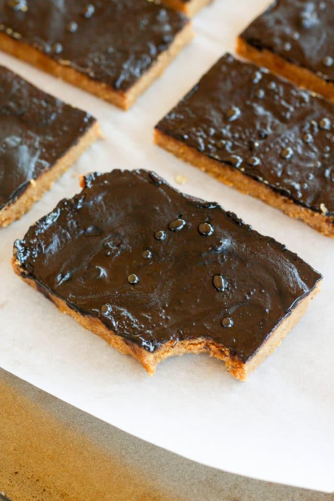 Low Carb Peanut Butter Bars Bites