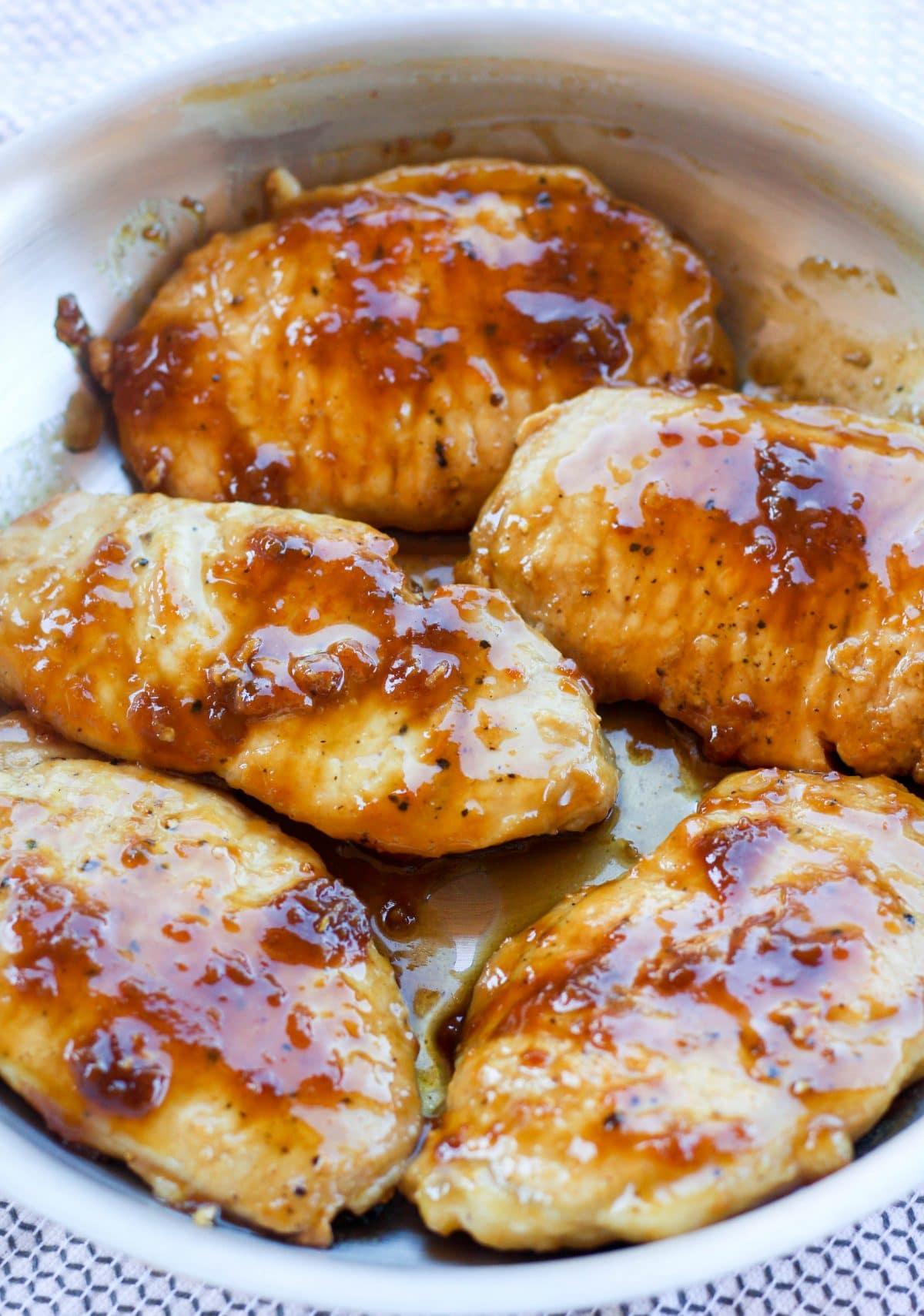 One Pan Maple Mustard Glazed Pork Chops - Hungry Hobby