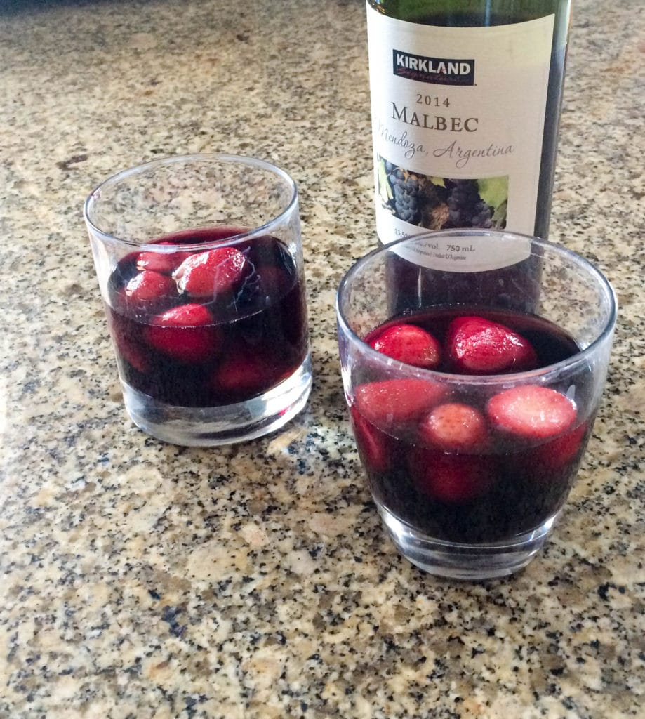 strawberrys and wine